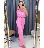 Розов плетен комплект Misha